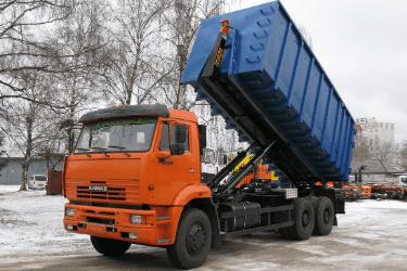 Пухтовоз — КАМАЗ с системой мультилифт