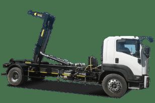 Крюковой погрузчик (мультилифт) ISUZU — пухтовоз для перевозки мусорных контейнеров (пухто)