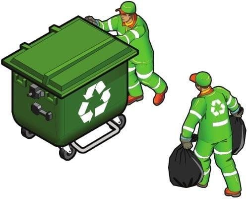 Загрузка пухто строительным мусором