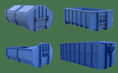 Пухто разных размеров для вывоза мусора и аренды