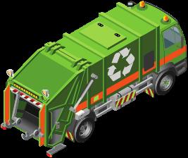 Мусоровоз с гидравлическим прессом компактором — машина для сбора и вывоза мусора