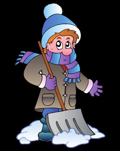 уборка снега иллюстрация для первого экрана
